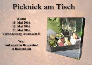 Picknick am Tisch